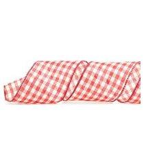 fita natal xadrez vermelho e branco 9 metros 3,8cm 1 unidade