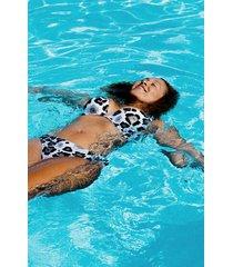 hunkemöller animal fräck bikiniunderdel vit