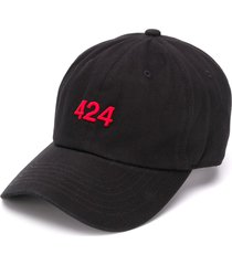 424 embroidered logo cap - black