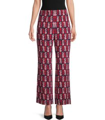 kenzo women's highwaist printed pants - pink multi - size 36 (4)
