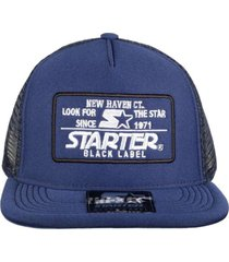 boné kings sneakers starter preto label trucker navy blue - único
