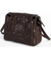 old trend leek-leather crossbody bag