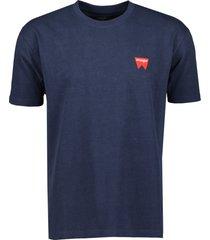 wrangler t-shirt - modern fit - blauw
