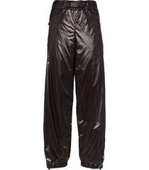moncler grenoble side-stripe nylon trousers - black