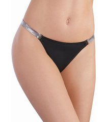 dreamgirl women's microfiber g-string with chainmail hip strap
