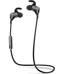 audífonos bluetooth, d9 deportes inalámbrico audifonos bluetooth manos libres  auricular anti-sudor auriculares de metal earbuds auriculares con micrófono en la oreja para smartphones iphone (gris)