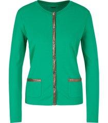 marc cain gebreid vest van stretchviscose groen