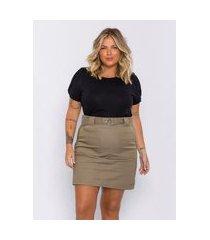 blusa plus size feminina lisamour tricot leve