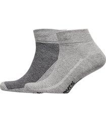 levis 168sf mid cut micro stripe 2p underwear socks regular socks grå levi´s