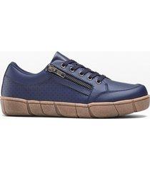 sneaker in pelle (blu) - bpc selection