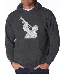 la pop art men's word art hoodie - all time jazz songs