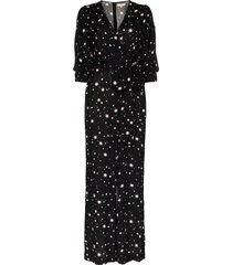 bytimo star print tie-waist jumpsuit - black