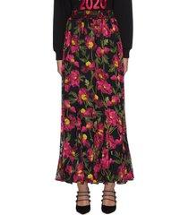 'elza' floral print maxi skirt