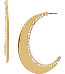 jessica simpson celestial moon hoop earrings