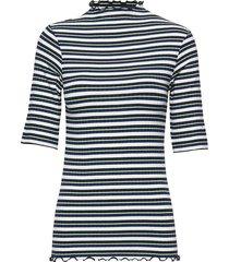 5x5 dream stripe trutte short t-shirts & tops short-sleeved blå mads nørgaard