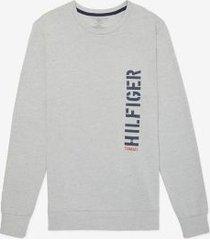 tommy hilfiger men's hilfiger sweatshirt grey heather - l