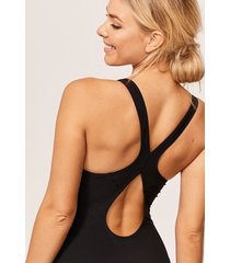 freestyle sports non wired shaping one-piece swimsuit