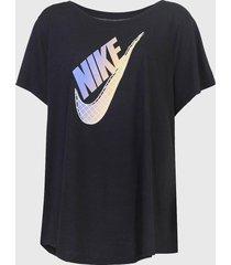 camiseta nike sportswear prep futu preta
