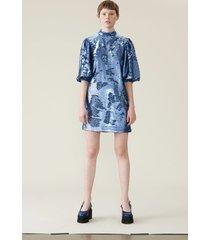 ganni jurk f3556 blauw