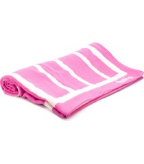 tekla fabrics toalha listrada - rosa