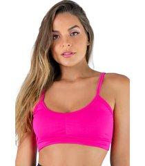 top mvb modas compressã£o suplex rosa - rosa - feminino - poliã©ster - dafiti