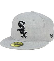 new era chicago white sox heather black white 59fifty fitted cap
