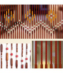 90x220cm 31 línea de madera pantalla cortina del grano de la mosca porche dormitorio salón baño - no especificado