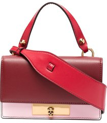 alexander mcqueen mini skull lock shoulder bag - pink