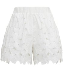 red valentino floral cotton poplin shorts