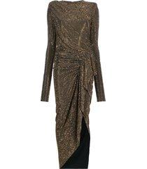 alexandre vauthier studded ruffle dress - black