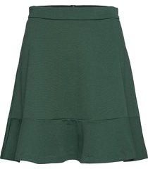 bytimona skirt - knälång kjol grön b.young