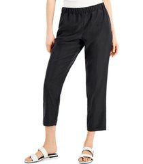 alfani petite pull-on ankle pants, created for macy's