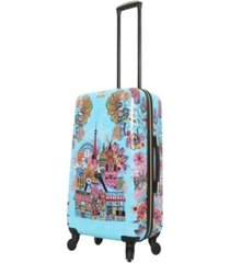 "halina car pintos ohalina la la 24"" hardside spinner luggage"