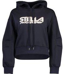 navy scuba logo print hoodie