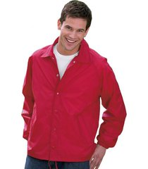 auburn® kasha lined nylon coach jacket, adult solid red,blue,black,green l-4xl