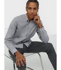 premium by jack & jones jprblaspring otto shirt l/s skjortor ljus grå
