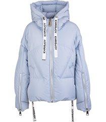 khrisjoy woman light blue khris iconic puffer jacket