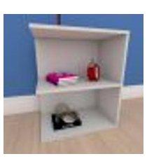 estante de livros compacta em mdf cinza