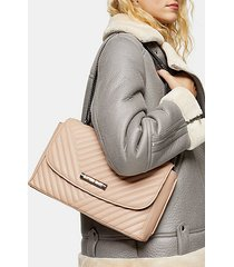 solo pale pink quilted shoulder bag - pale pink