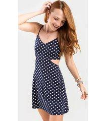 cali cut out mini dress - navy