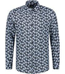 overhemd flower donkerblauw