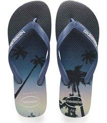 sandalias chanclas havaianas para hombre azul hype