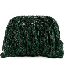 benedetta bruzziches crystal embellished clutch bag - green