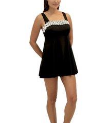 fit 4 u loopy square neck dress women's swimsuit