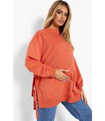 zwangerschap gerecyclede borstvoeding sweater met zijstrikjes, rust