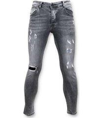 skinny jeans true rise versleten jeans spijkerbroek