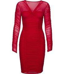 adrianna dress knälång klänning röd guess jeans