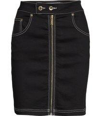 front zip twill skirt kort kjol svart ivyrevel
