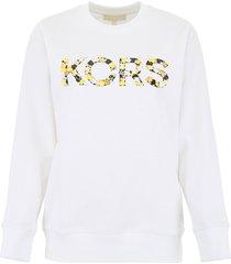 michael michael kors floral sequins sweatshirt