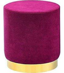 pufa welurowa podnóżek welwetowy cris purpurowy